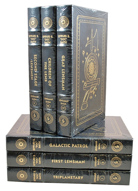 "Easton Press, Edward E. ""DOC"" Smith, The Lensman Saga, Limited Leather Bound Collector's Edition, 6-Volume Complete Matched Set [Sealed]"