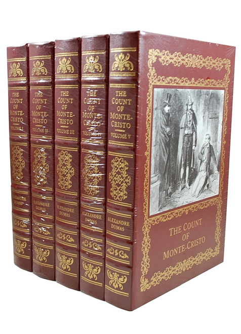 "Easton Press, Alexandre Dumas ""The Count of Monte Cristo"" Deluxe Leather Bound Collector's Edition of only 800, 5-Volume Set [Sealed]"
