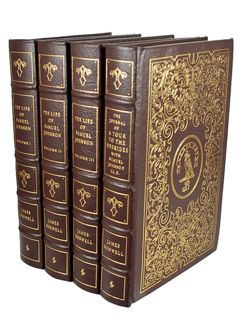 "Easton Press, James Boswell ""The Life Of Samuel Johnson"" Leather Bound Collector's Edition, Limited Edition, 4 Vols."