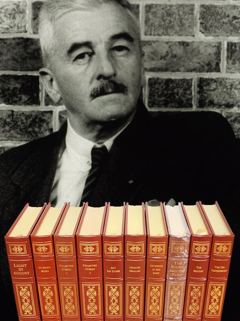 "Easton Press ""William Faulkner Classics"" Leather Bound Complete Matched 11 Vol. Set [Very Fine]"