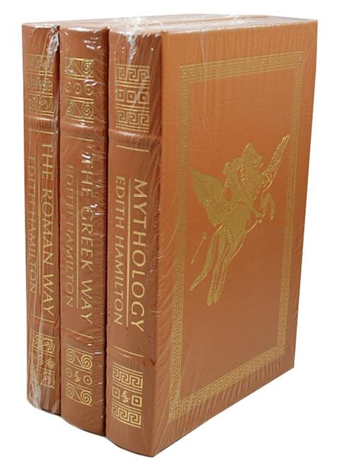 "Easton Press, Edith Hamilton ""Mythology"", ""The Greek Way"", ""The Roman Way"" Leather Bound Matching Set, 3 Vols.  [Sealed]"
