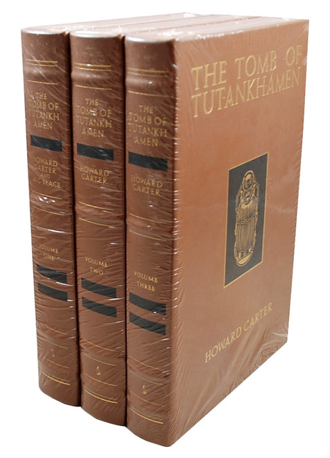 "Easton Press, Howard Carter, A.C. Mace ""The Tomb of Tutankhamen""  Leather Bound Collector's Edition,  3-Vol. Matched Set"