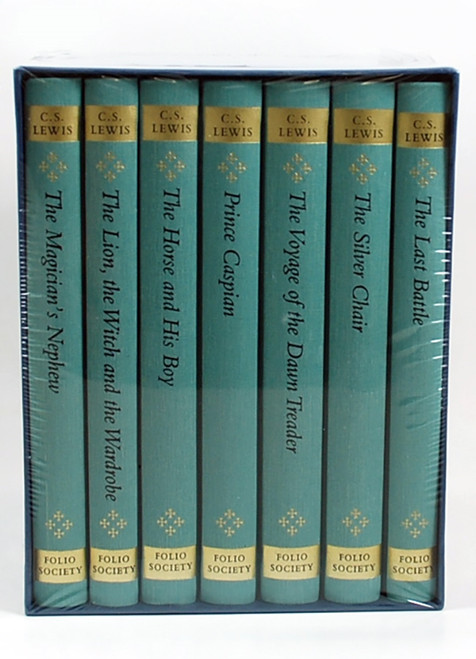 "Folio Society - C.S. Lewis ""The Chronicles of Narnia"" Limited Edition Collector's Box Set, Complete Matching 7 Vol. Set  Slipcased [Sealed]"