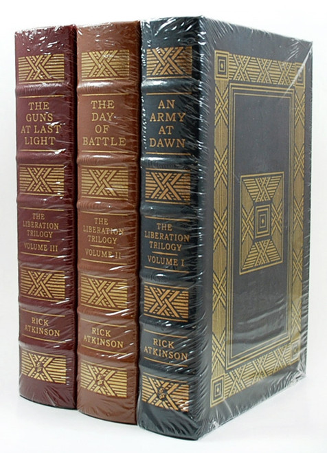 "Easton Press - Rick Atkinson ""The Liberation Trilogy"" Leather Bound Limited Edition, Complete Matching 3-Vol. Set [Sealed]"
