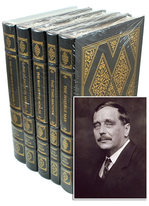 "Easton Press ""H.G. Wells: The Classic Novels in Five Volumes"" Leather Bound Limited Edition, Complete Matching 5-Vol. Set w/COA [Sealed]"