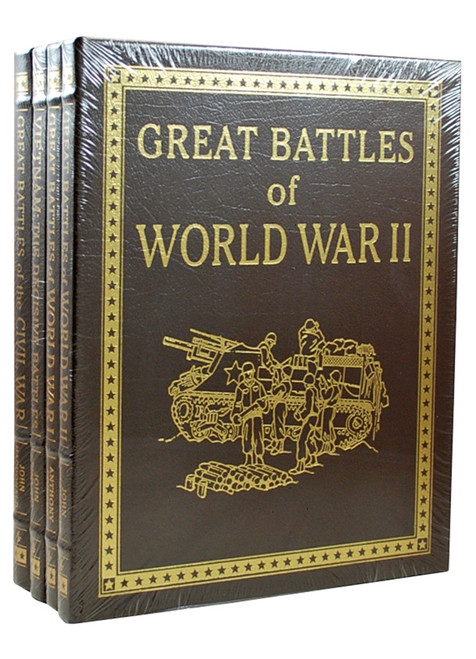 "Easton Press ""Great Battles"" 4-Volume Complete Matching Limited Edition Collector's Set, Leather Bound [Sealed]"