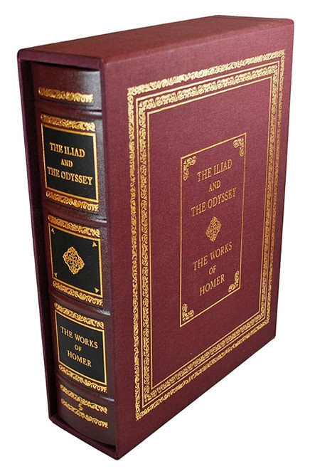 "Easton Press The Works of Homer ""The Iliad and The Odyssey"" Deluxe Limited Edition of only 400, Slip-cased"