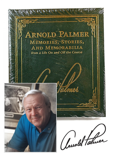 """Arnold Palmer """"Memories, Stories, and Memorabilia"""" Signed Limited Edition , Easton Press leather bound"""