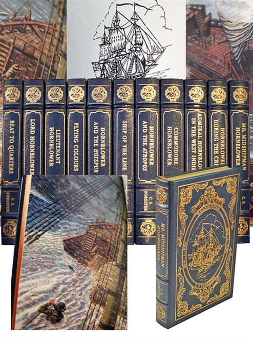 """Easton Press, C. S. Forester """"Horatio Hornblower Classics"""" Limited Collector's Edition, Complete Matching Set, 11 Vols"""