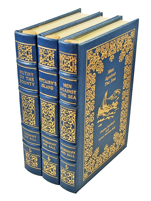 """Easton Press, Charles Nordhoff, James Norman Hall """"The Mutiny on the Bounty Trilogy"""" 3 Vol. Set"""