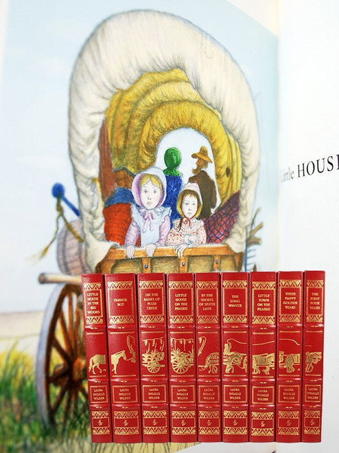 "Easton Press, Laura Ingalls Wilder ""Little House On The Prairie"" 9 Vol. Leather Bound Complete Set"