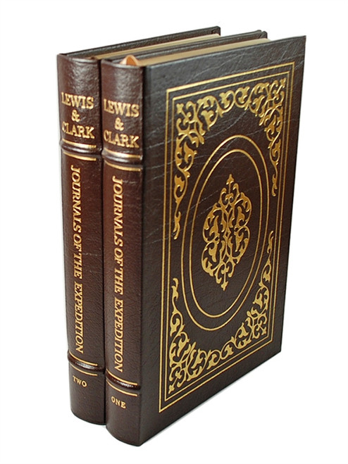 "Easton Press, Lewis and Clark ""The Journals of the Expedition"" Limited Leather Bound Collector's Set, 2 Vols [Very Fine]"