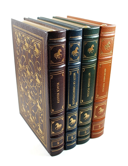 "Easton Press ""The Famous Horses Collection"" Leather Bound Limited Edition, 4 Volume Matched Set"