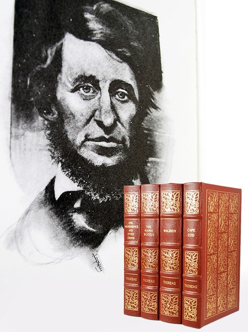"Easton Press ""The Classics of Thoreau"" Limited Edition, 4 Vol. Complete Matched Set [Very Fine]"