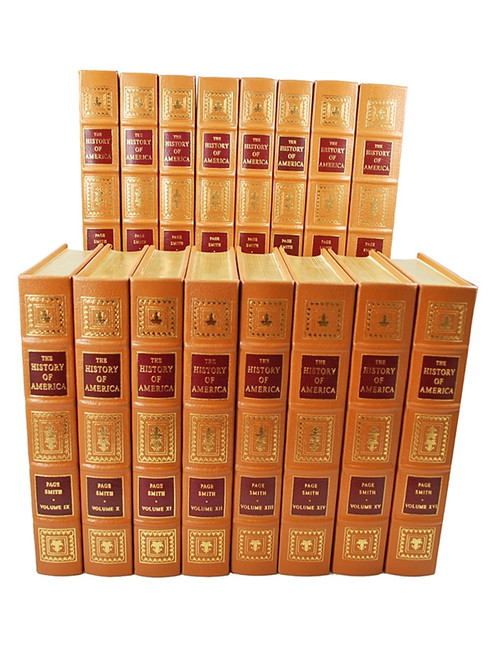 "Easton Press, Page Smith ""The History Of America"" Leather Bound 16 Vol. Complete Matched Set"