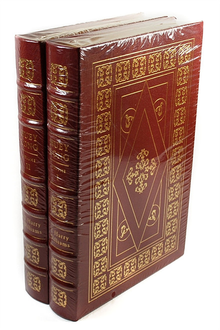 "Thomas Harry Williams ""Huey Long""  Leather Bound Collector's Edition, Two Volume Complete Matched Set"