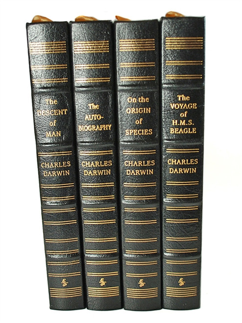 """Easton Press """"The Works of Charles Darwin"""" Leather Bound Limiteds Edition, 4 Vol. Matched Set"""