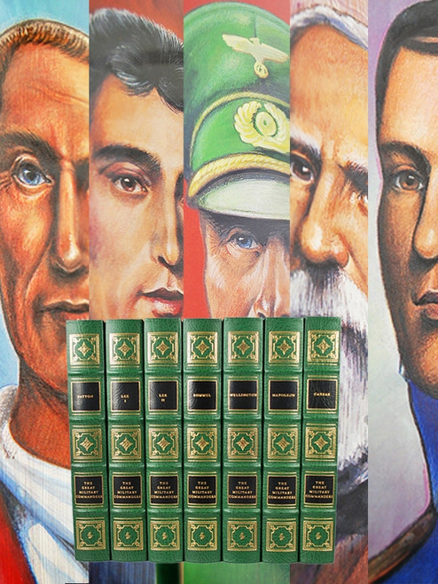 "Easton Press, ""The Great Military Commanders"" Leather Bound Collector's Edition, 7 Vol. Complete Matched Set"