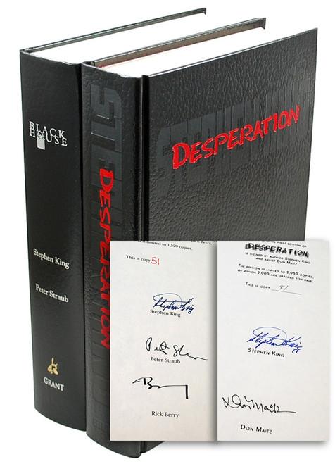 Stephen King Desperation Black House Signed Limited