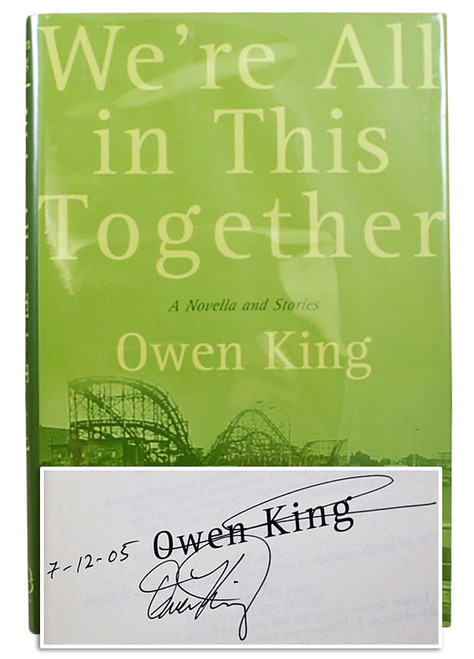 "Owen King ""We're All In This Together"" Signed First Edition, First Printing [Fine/Fine]"