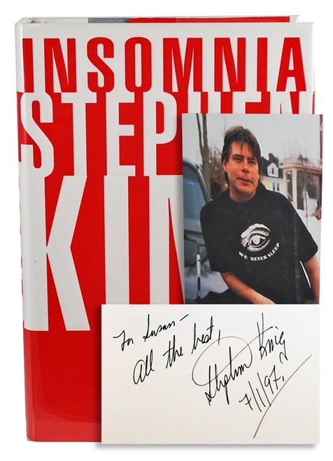 "Stephen King ""Insomnia"" Signed First Edition"