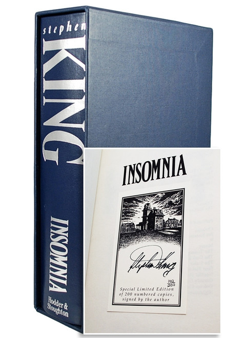 "Stephen King ""Insomnia"" UK Signed Limited Edition #102/200 Slipcased Edition [Very Fine]"
