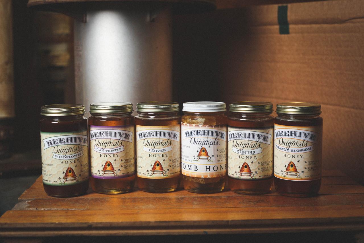 Local Harvested Honey being bottled