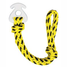 Conveniently attach and detach tube tow ropes to towables with AIRHEAD's Kwik-Connect. There's no need to thread 60 feet of rope through the tow strap each time you connect or disconnect a tow rope. The high impact Kwik-Connect has a 1 inch diameter hole to accept up to 6,000 lb. break strength tube ropes. Recommended for 1 to 4 rider towables that are not equipped with Kwik-Connects. 253-AHKC1