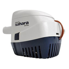 """An automatic-switch bilge pump is a requirement for any vessels 20' and over with sleeping accommodations, but is a great convenience for any size boat. The Sahara has everything contained in one compact yet durable package – pump, wire seals, strainer, and mercury-free switch – and installs quickly and easily in tight spaces. Pumps include 36"""" lengths of 16-gauge caulked and tinned copper wire.  S1100 is our most powerful and efficient automatic pump. High capacity for larger boats and yachts. 1100 GPH* at open flow, 973 GPH* at 3.3' head. 1-1/8"""" hose outlet."""