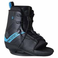OBRIEN LINK WAKEBOARD BINDINGS Size 4-6 (Black/Blue)- OPEN TOE