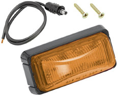 Wesbar Amber Side Marker/Clearance Marine Light with Black Base is a compact rectangular light with the polycarbonate lens sonic welded to the base. Offers easy Installation with self grounding base on metallic surfaces. Features snap lock tabs on the lens housing. 274-203292