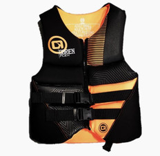 OBRIEN MENS Flex Vest (BLK/ORANGE)(XL)
