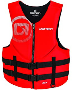 OBRIEN MENS Traditional Vest (RED)(5XLT)