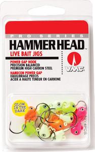 PRO SERIES Hammer Head Live Bait Jigs ULTRA GLOW Kit 3/8 oz  Assortment (10pcs)