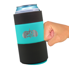 TOADFISH NON-TIPPING CAN COOLER 12OZ (TEAL