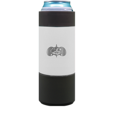 TOADFISH NON-TIPPING SLIM CAN COOLER (WHITE) 12OZ