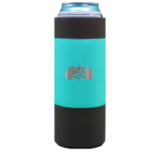TOADFISH NON-TIPPING SLIM CAN COOLER (TEAL) 12OZ