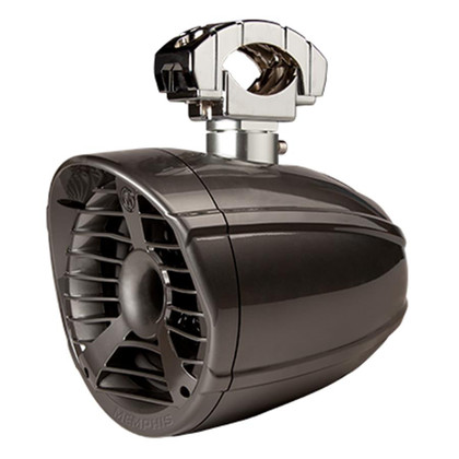 """Compression Horn Tweeter Design Water and UV  Ray Resistant Housing Adjustable Aluminum Mounting Hardware Swivel Mount Rotates 360° Built in LED Lighting 1.75""""-3"""" Bar Mount"""