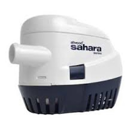 """An automatic-switch bilge pump is a requirement for any vessels 20' and over with sleeping accommodations, but is a great convenience for any size boat. The Sahara has everything contained in one compact yet durable package – pump, wire seals, strainer, and mercury-free switch – and installs quickly and easily in tight spaces. Pumps include 36"""" lengths of 16-gauge caulked and tinned copper wire.  S750 is sized for larger recreational boats. Our most powerful 3/4""""-outlet automatic pump. 750 GPH* at open flow, 625 GPH* at 3.3' head. 3/4"""" hose outlet."""