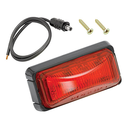 Wesbar Red Side Marker/Clearance Marine Light with Black Base is a compact rectangular light with the polycarbonate lens sonic welded to the base. Offers easy Installation with self grounding base on metallic surfaces. Features snap lock tabs on the lens housing. 274-203293