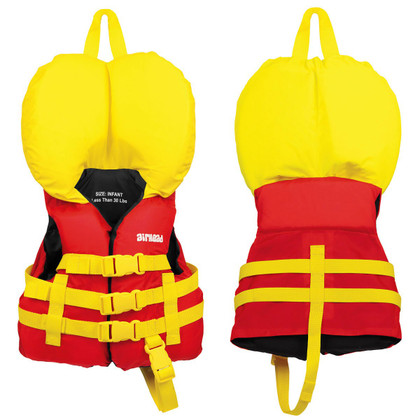 AIRHEAD INFANT NYLON LIFE VEST (Red)