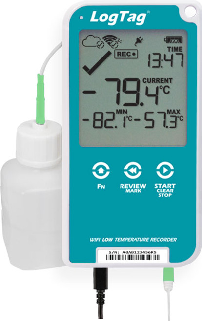 UTREL30-WiFi – 30 DAY WIFI LOW TEMPERATURE LOGGER WITH DISPLAY