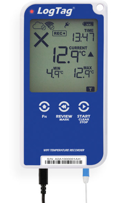 UTRED30-WiFi – 30 DAY WIFI LOGGER WITH DISPLAY
