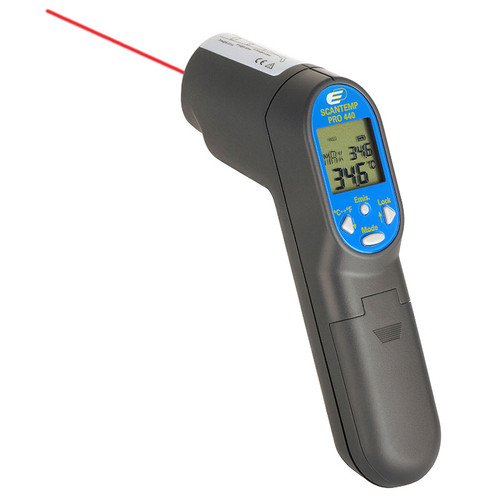 ACCD0503IRK:  ScanTemp 450 Hanheld Infrared Thermometer with K-Type Thermocouple Input (-64/1400°C) : -60/500°C ±2%