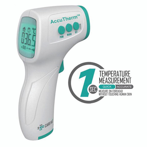 ACCD04900IR:  AccuTherm Care4U Forehead & Surface InfraRed Thermometer, 32/42.5C & 89.6/108.5F