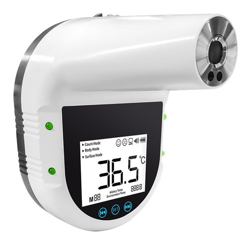 ACCD0974IR:  Wall Mount Fever Alarm Non-Contact Forehead InfraRed Thermometer, 0/50C & 32/122F