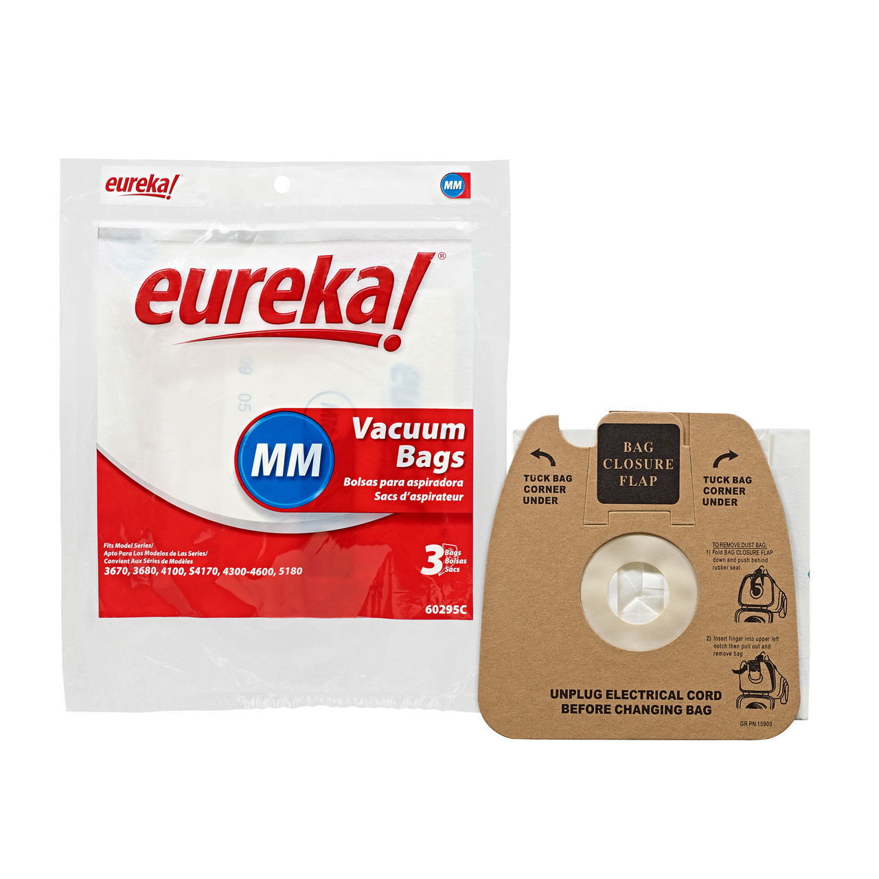 EUREKA Style MM Vacuum Bags ~ Mighty Mite ~ GENUINE ~ Pack of 3 Bags ~ 60295C
