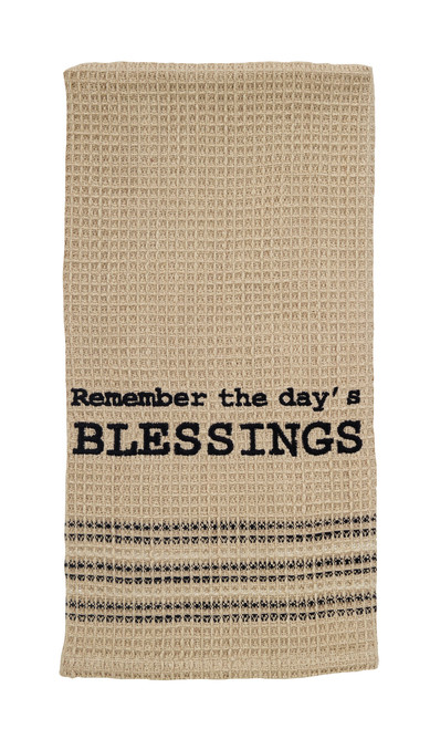 Remember The Day's Blessings Dishtowel