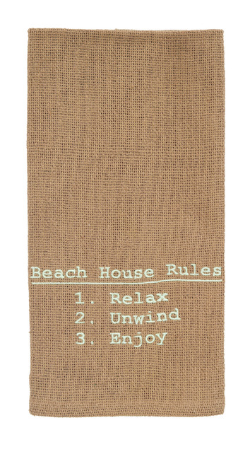 Beach House Rules Dishtowel