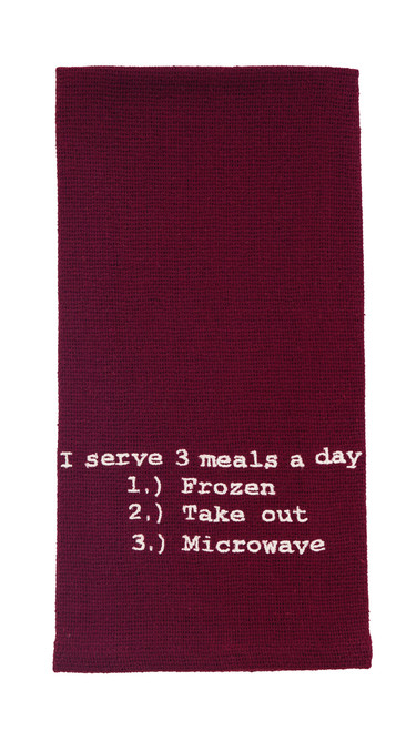 Three Meals A Day Dishtowel